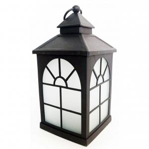 Latarnia plastikowa LED HY-0043 czarny 21x10,5cm