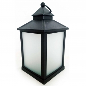 Latarnia plastikowa LED HY-0045 czarny 21x10,5cm