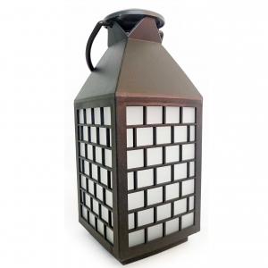 Latarnia plastikowa LED HY-0062 czarny 28x11,5cm