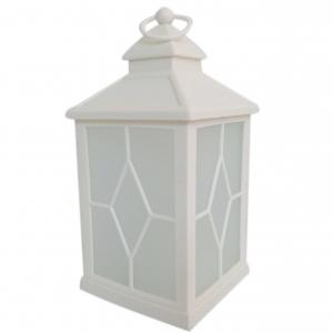 Latarnia plastikowa LED HY-0044 biały 21x10,5cm