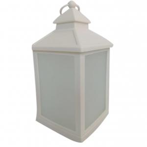 Latarnia plastikowa LED HY-0045 biały 21x10,5cm