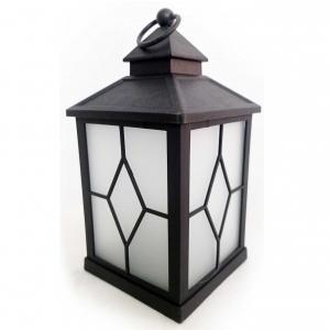 Latarnia plastikowa LED HY-0044 czarny 21x10,5cm