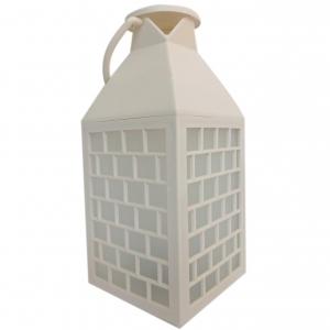 Latarnia plastikowa LED HY-0062 biały 28x11,5cm