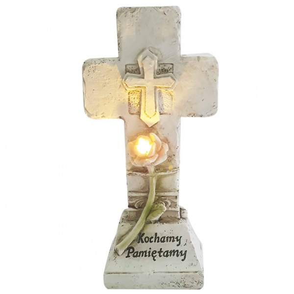 Figurka LED KRZYŻ - Kochamy pamiętamy 22217